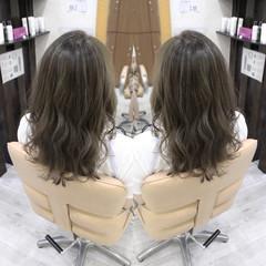 ナチュラル セミロング ヘアアレンジ 夏 ヘアスタイルや髪型の写真・画像
