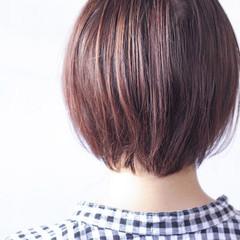 ナチュラル パープル パープルカラー 大人ハイライト ヘアスタイルや髪型の写真・画像