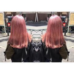 ピンク ハイトーン モード 春 ヘアスタイルや髪型の写真・画像