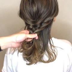 ガーリー アウトドア デート ヘアアレンジ ヘアスタイルや髪型の写真・画像