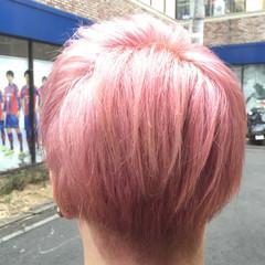 ヘアアレンジ 外国人風 ショート ブリーチ ヘアスタイルや髪型の写真・画像