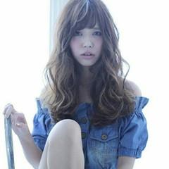 ゆるふわ アッシュ モテ髪 ガーリー ヘアスタイルや髪型の写真・画像