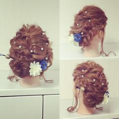 アップスタイル ヘアアレンジ 成人式 セミロング ヘアスタイルや髪型の写真・画像