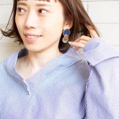 オン眉 n. デート オフィス ヘアスタイルや髪型の写真・画像