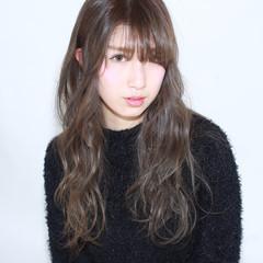 黒髪 イルミナカラー ロング 暗髪 ヘアスタイルや髪型の写真・画像