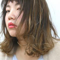 グラデーションカラー ストリート 大人かわいい フェミニン ヘアスタイルや髪型の写真・画像