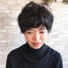 ショート 大人女子 マッシュ 黒髪 ヘアスタイルや髪型の写真・画像