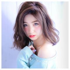 グレージュ ガーリー フェミニン 大人かわいい ヘアスタイルや髪型の写真・画像