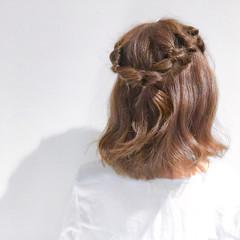 簡単ヘアアレンジ ショート デート アウトドア ヘアスタイルや髪型の写真・画像