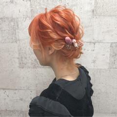 シニヨン ボブ 上品 結婚式 ヘアスタイルや髪型の写真・画像