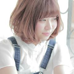 ピンク 大人かわいい ピュア ゆるふわ ヘアスタイルや髪型の写真・画像