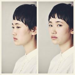 ナチュラル ショート ベリーショート 前髪あり ヘアスタイルや髪型の写真・画像