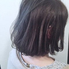 ワンレングス ボブ グレージュ ブルージュ ヘアスタイルや髪型の写真・画像