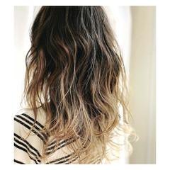 外国人風 透明感 秋 ハイライト ヘアスタイルや髪型の写真・画像