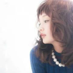 ゆるふわ 愛され モテ髪 卵型 ヘアスタイルや髪型の写真・画像