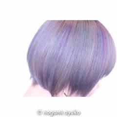 パープル 渋谷系 ショート カラーバター ヘアスタイルや髪型の写真・画像