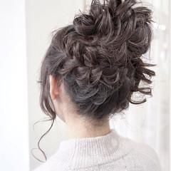 成人式 ゆるふわ ヘアアレンジ 暗髪 ヘアスタイルや髪型の写真・画像