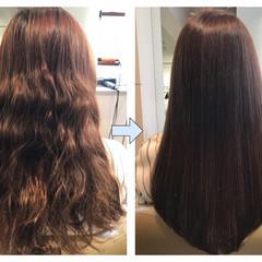 ナチュラル 透明感 縮毛矯正 ロング ヘアスタイルや髪型の写真・画像