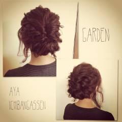 アップスタイル パーティ ストリート 外国人風 ヘアスタイルや髪型の写真・画像