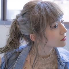 透明感 ミルクティーベージュ アッシュグレー 秋 ヘアスタイルや髪型の写真・画像