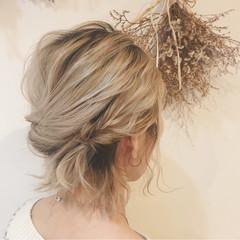 くるりんぱ 成人式 ナチュラル 簡単ヘアアレンジ ヘアスタイルや髪型の写真・画像