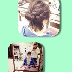 ヘアアレンジ モテ髪 アップスタイル 編み込み ヘアスタイルや髪型の写真・画像
