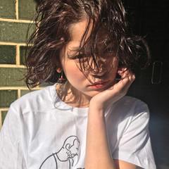 黒髪 前髪あり モード デート ヘアスタイルや髪型の写真・画像