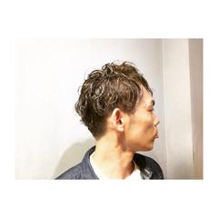 坊主 パーマ ショート ナチュラル ヘアスタイルや髪型の写真・画像
