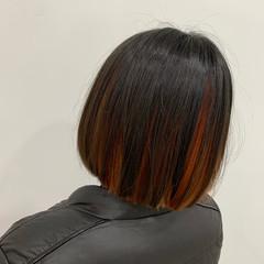 切りっぱなしボブ N.オイル ミニボブ インナーカラー ヘアスタイルや髪型の写真・画像