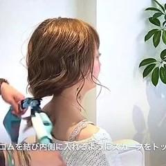 女子会 ナチュラル オフィス セミロング ヘアスタイルや髪型の写真・画像