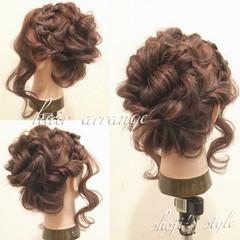 フェミニン 波ウェーブ ショート 簡単ヘアアレンジ ヘアスタイルや髪型の写真・画像