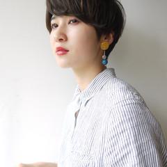 女子力 秋 ショート 色気 ヘアスタイルや髪型の写真・画像