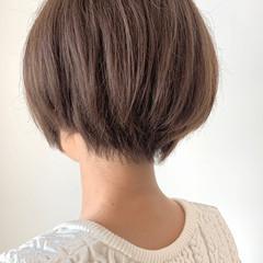 簡単スタイリング ナチュラル ショートボブ ショートヘア ヘアスタイルや髪型の写真・画像