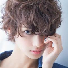 ショート 外国人風 ハイライト ゆるふわ ヘアスタイルや髪型の写真・画像