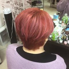 ショートヘア ベリーピンク ショート ベリーショート ヘアスタイルや髪型の写真・画像
