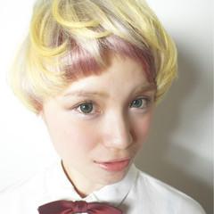 ショート ボブ モード マッシュ ヘアスタイルや髪型の写真・画像