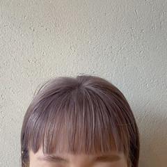 ラベンダーアッシュ ボブ ラベンダーカラー ラベンダー ヘアスタイルや髪型の写真・画像