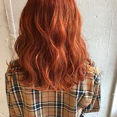 大人かわいい カッパー 夏 ミディアム ヘアスタイルや髪型の写真・画像