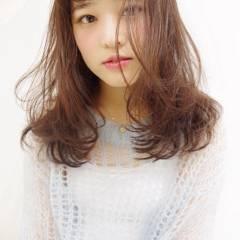 ゆるふわ 愛され コンサバ シースルーバング ヘアスタイルや髪型の写真・画像