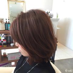 ニュアンス 小顔 色気 ピンク ヘアスタイルや髪型の写真・画像