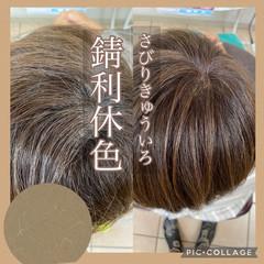 髪質改善カラー ショートヘア 大人ハイライト ナチュラル ヘアスタイルや髪型の写真・画像