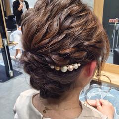 ヘアアレンジ 大人女子 ハーフアップ ショート ヘアスタイルや髪型の写真・画像