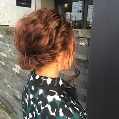 ショート ヘアアレンジ 簡単ヘアアレンジ ハーフアップ ヘアスタイルや髪型の写真・画像