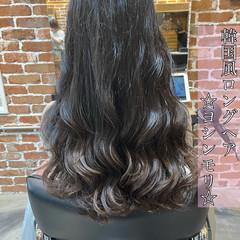 韓国ヘア ロング ナチュラル 韓国風ヘアー ヘアスタイルや髪型の写真・画像