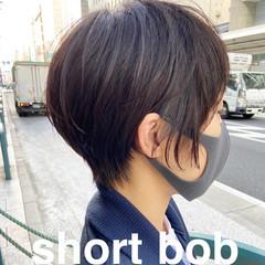 ショートヘア ナチュラル ショート 大人ショート ヘアスタイルや髪型の写真・画像