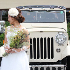 ブライダル ガーリー ヘアアレンジ 結婚式 ヘアスタイルや髪型の写真・画像