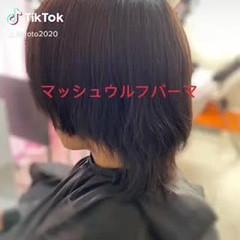 フェミニン ミディアム ウルフカット レイヤーロングヘア ヘアスタイルや髪型の写真・画像