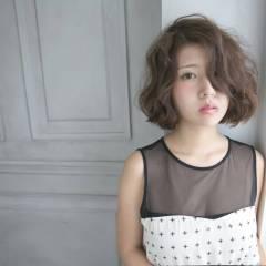 ボブ 外国人風 フェミニン 卵型 ヘアスタイルや髪型の写真・画像