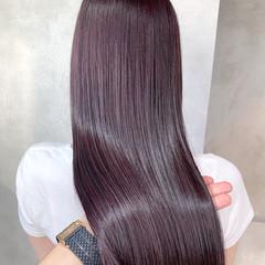 ラベンダーピンク 秋冬スタイル ピンクブラウン 透明感カラー ヘアスタイルや髪型の写真・画像