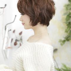 ゆるふわ 小顔 ガーリー ショート ヘアスタイルや髪型の写真・画像